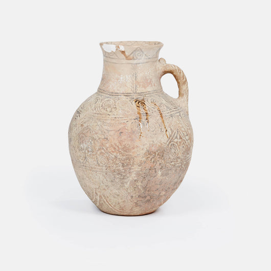 Ancient Style Pottery Jar with Floral Design