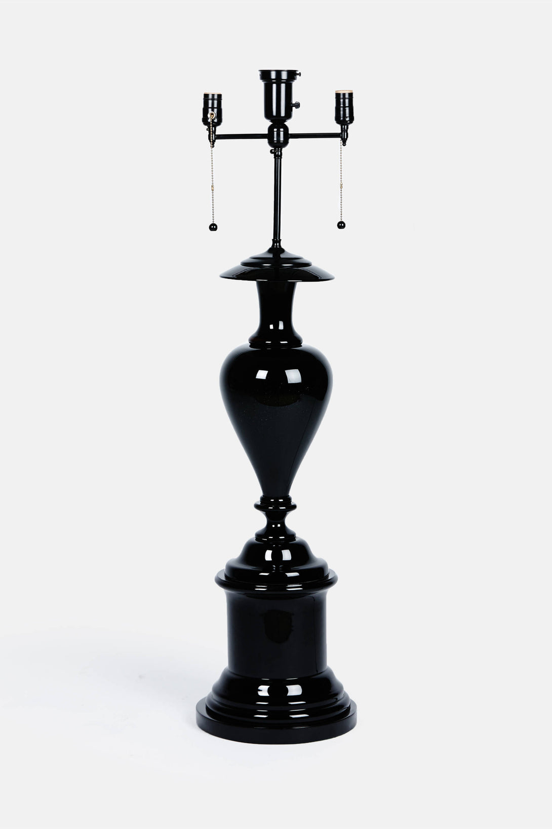 Large French Glass Standing Lamp