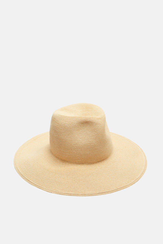 St Lucia Wide Brimmed Hat - Leghorn