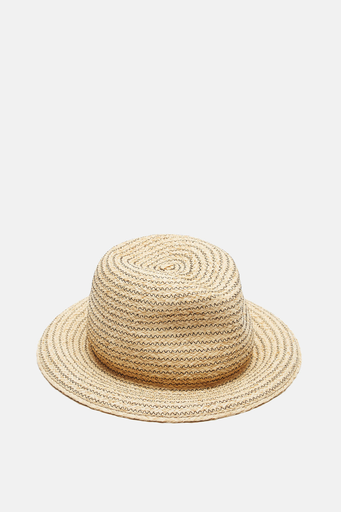 Calais Hat - Natural w/Black