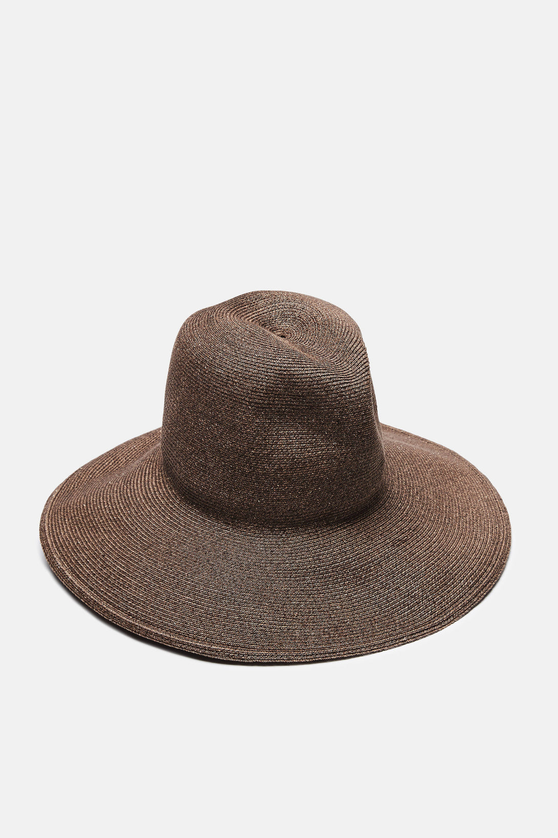 St Lucia Wide Brimmed Hat - Brown