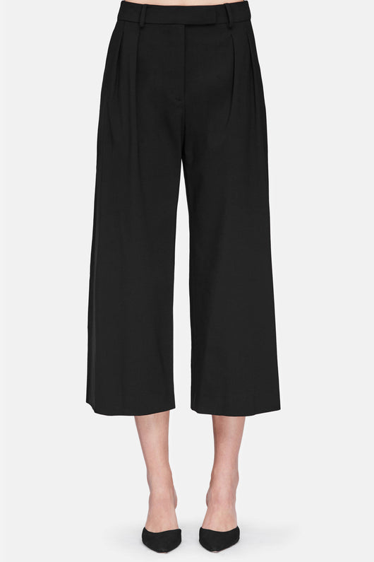 High Waist Culottes - Black