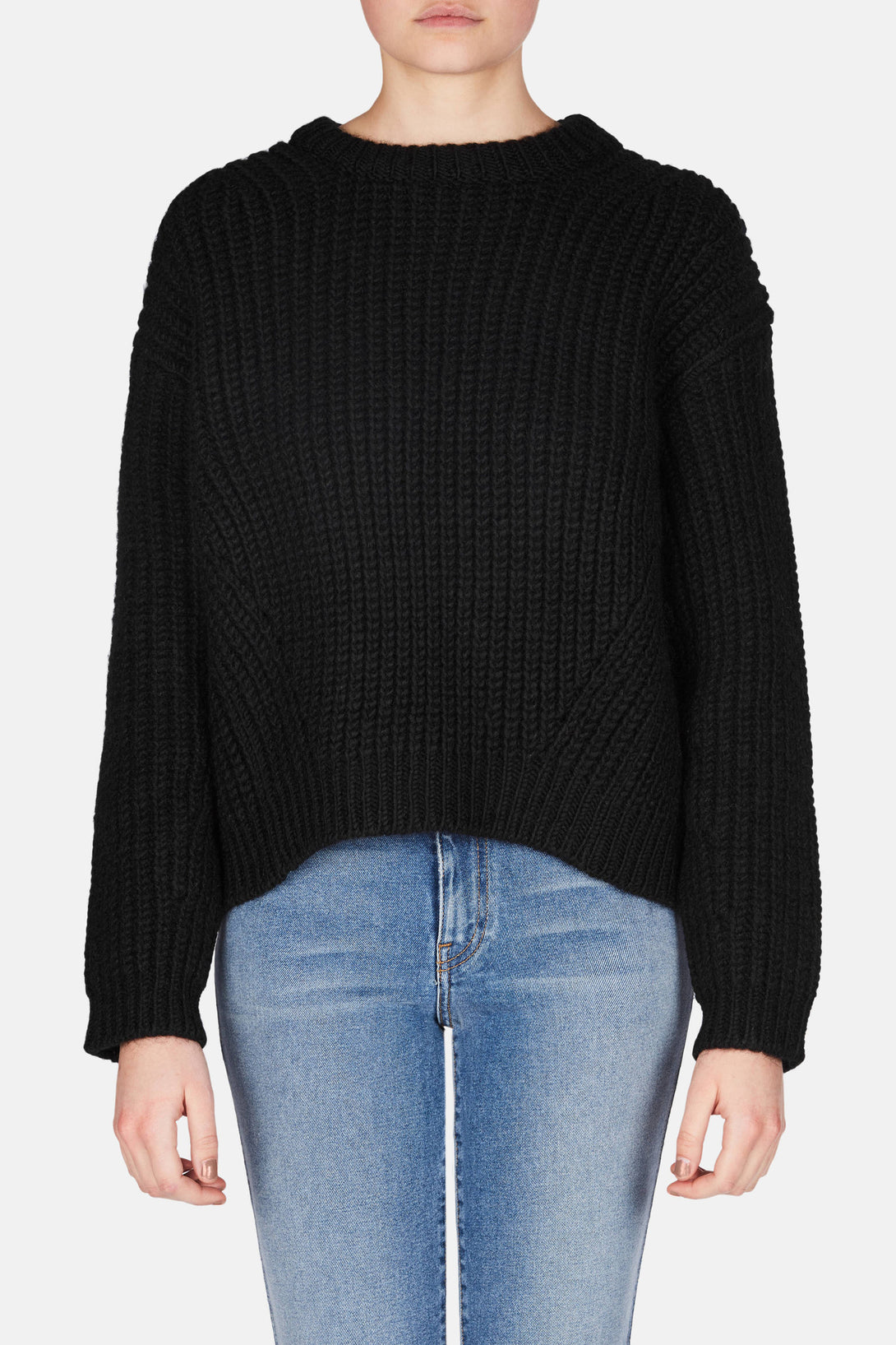Hira Chunky Sweater - Black