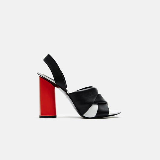 Color Block Slingback - Black/White