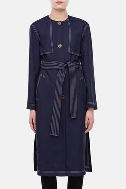 Isadora Trench - Navy