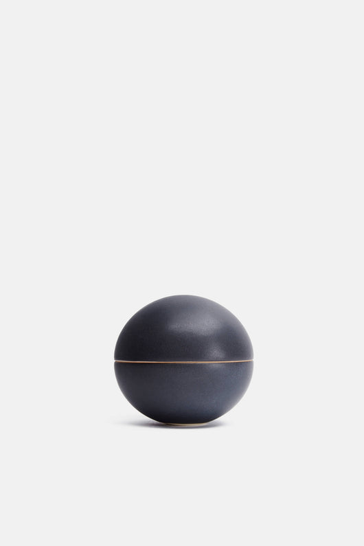 Matte Black Small Spherical Lidded Container
