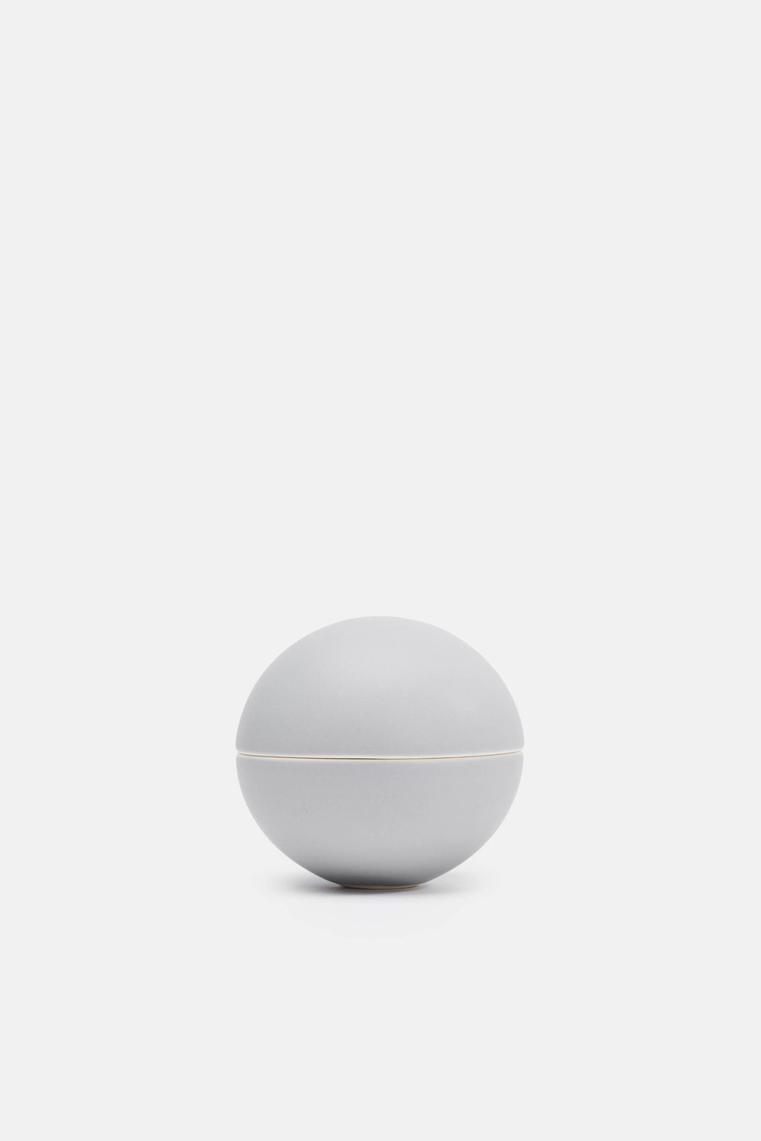 Matte Medium Grey Small Spherical Lidded Container