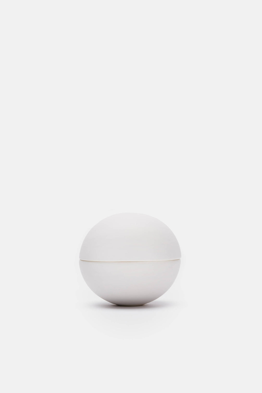 Matte White Small Spherical Lidded Container