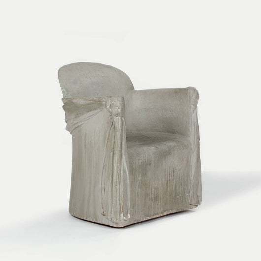 Cast Plaster Resin Armchair