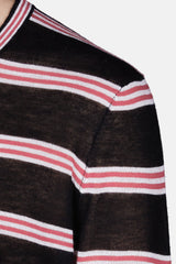 L/S Striped Shirt - Black/Grey