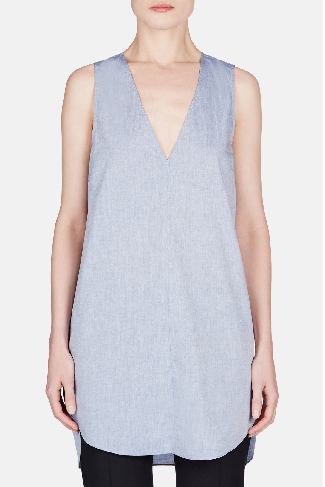 V Neck Tunic - Blue
