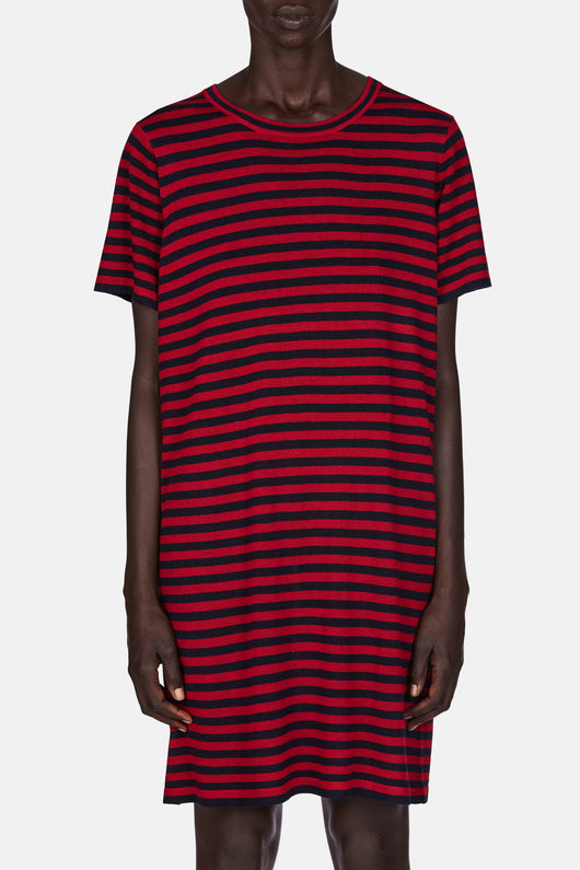 T Shirt Dress - Red/Navy
