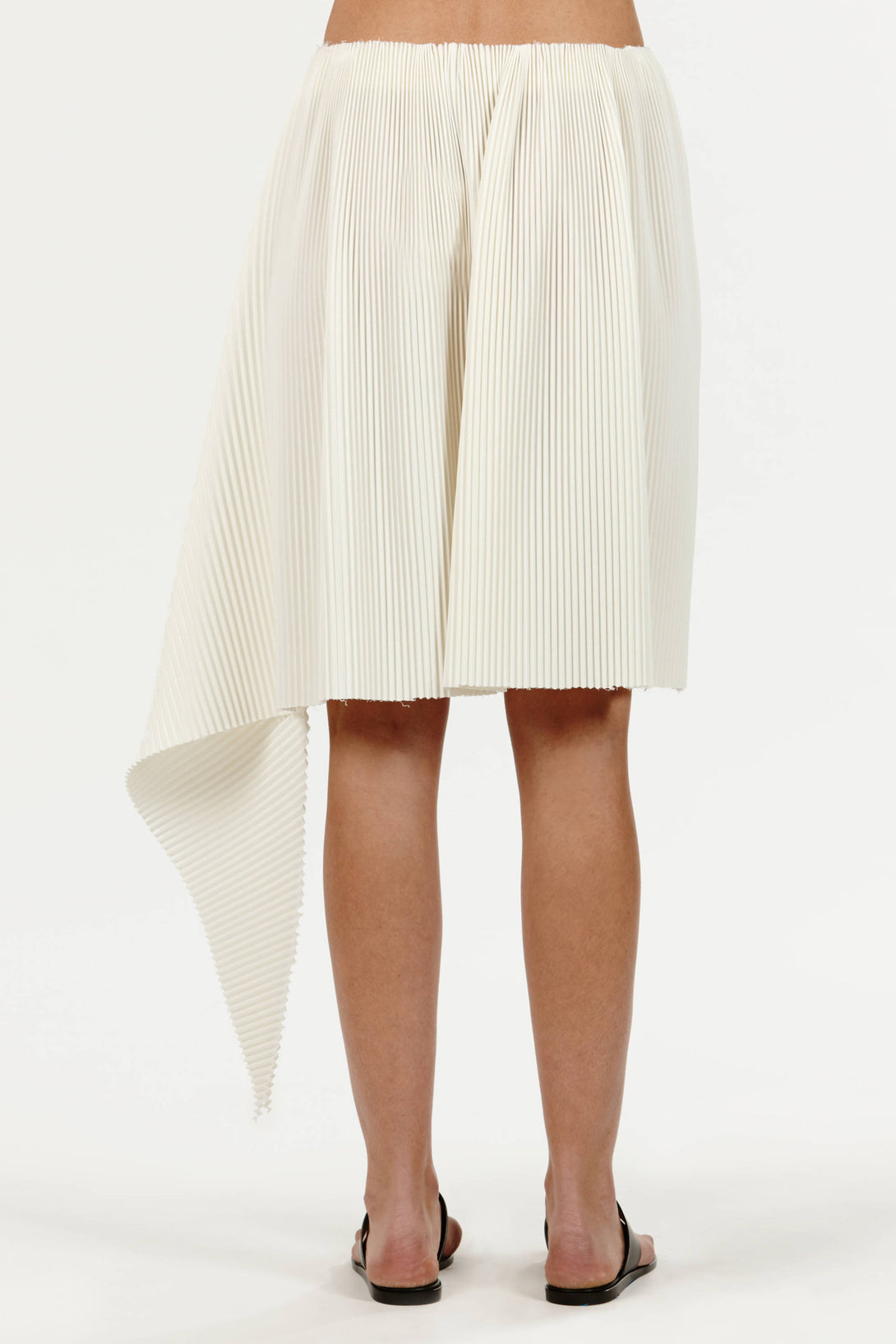 741a394dbca15 Pleated Wool Fishtail Skirt - Ivory – The Line