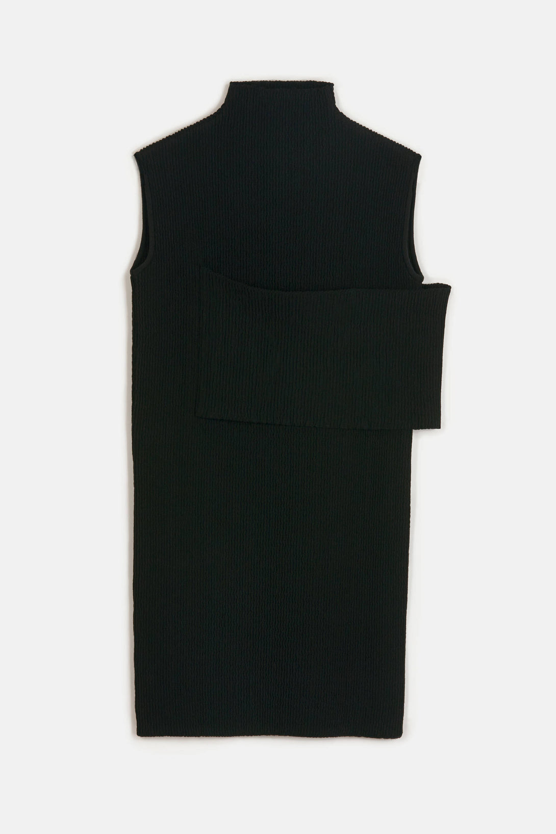 Smocked Sleeveless Banded Dress - Black