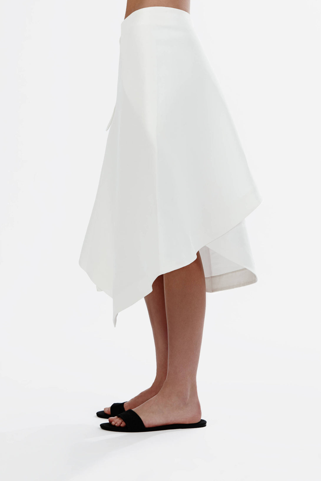 Origami Skirt White The Line