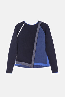 Brick Raglan Sweater - Navy