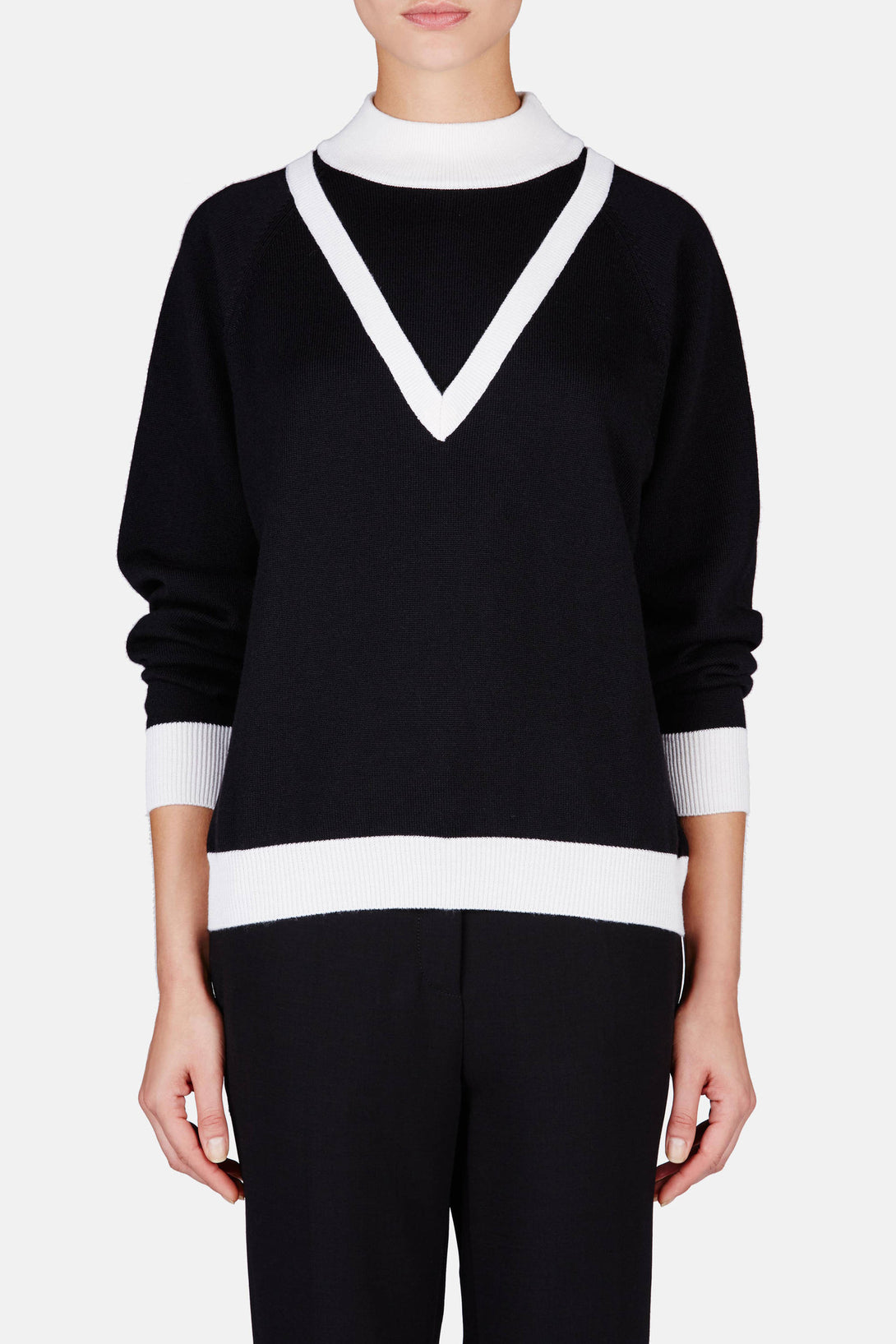 Oversized V Sweater - Black