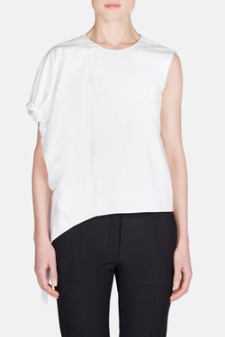 Balloon Sleeve Top - White