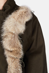 Raccoon Trim Parka - Khaki