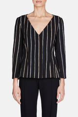 Jacket 26 Shaped Jacquard Jacket - Multi Stripe