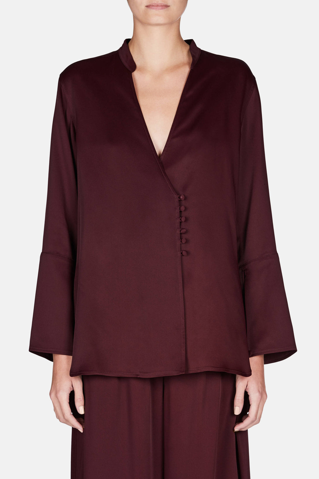 Susan Shirt - Burgundy