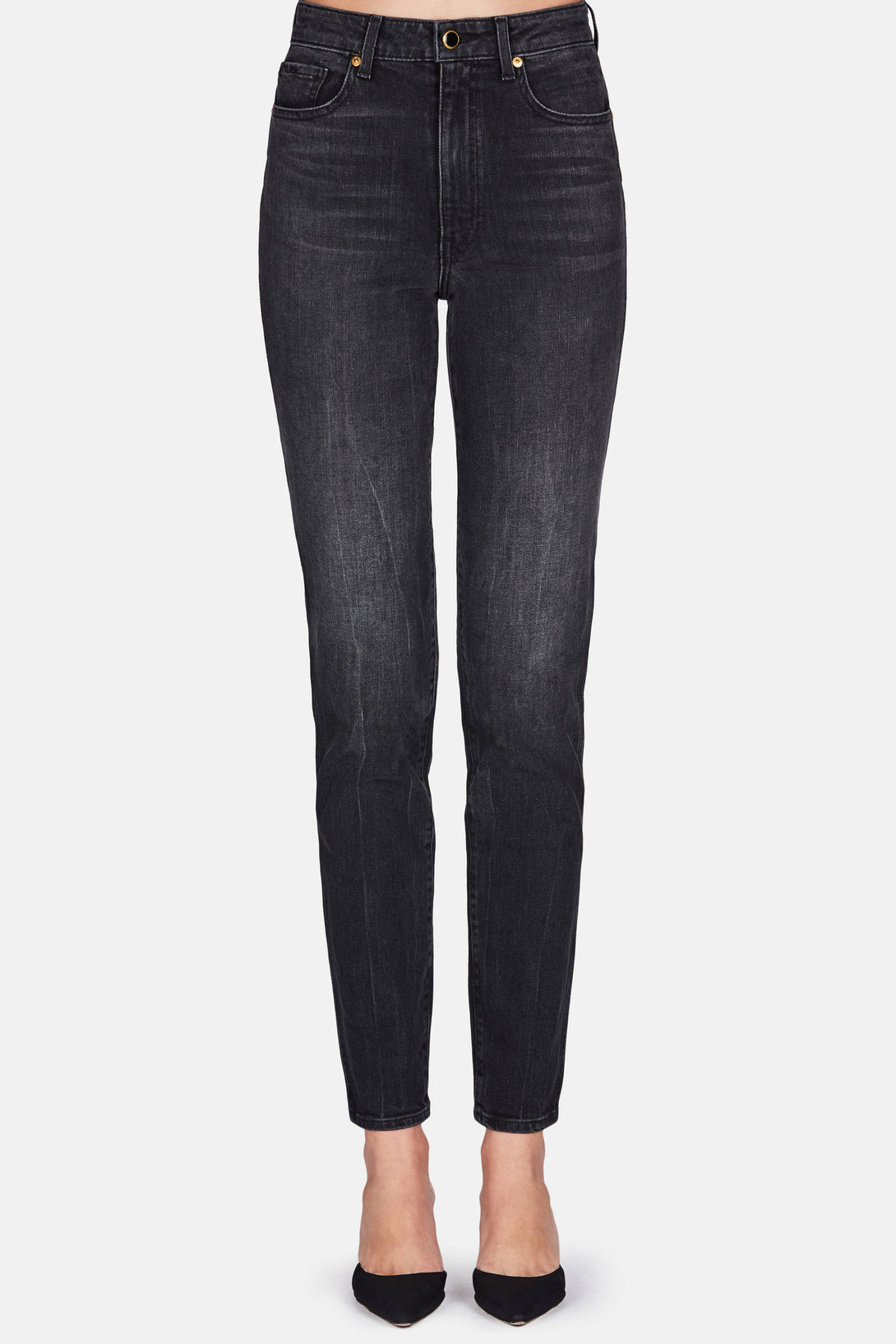 Vanessa High Rise Straight Jean - Black Vintage