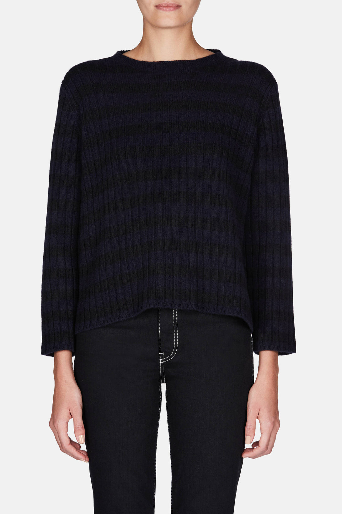 Arielle Sweater - Navy/Black
