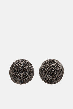 One-Ball Earrings - Gunmetal