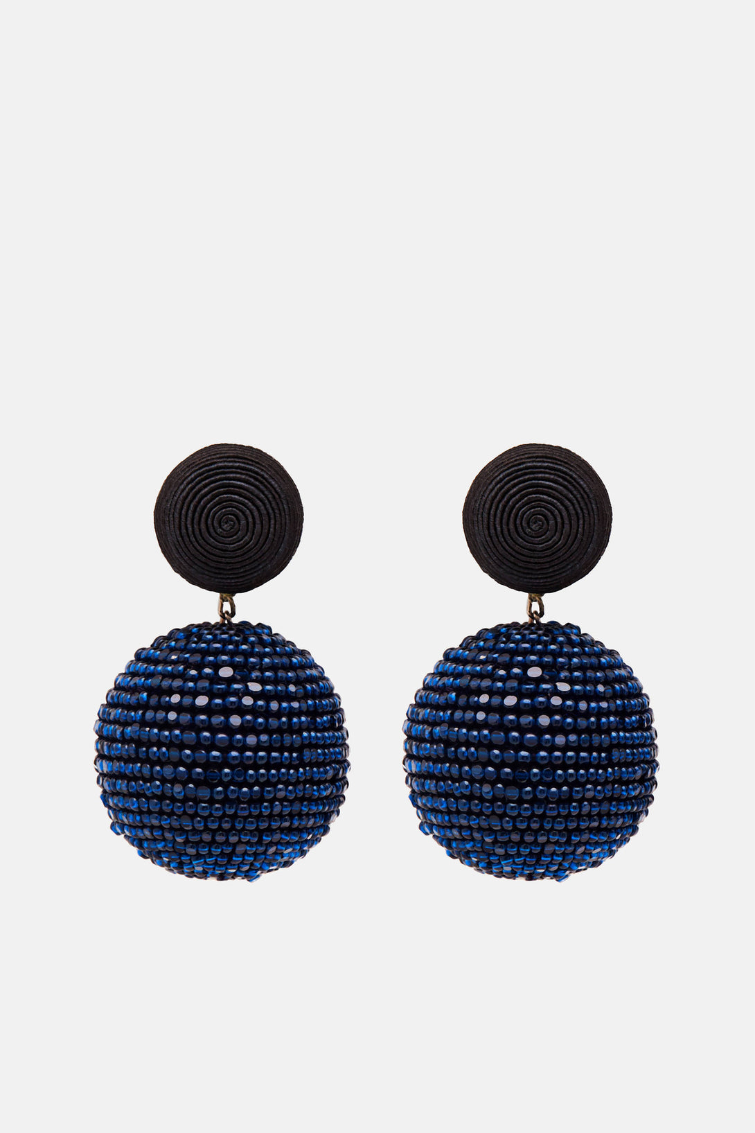 Two-Ball Earrings - Black/Navy