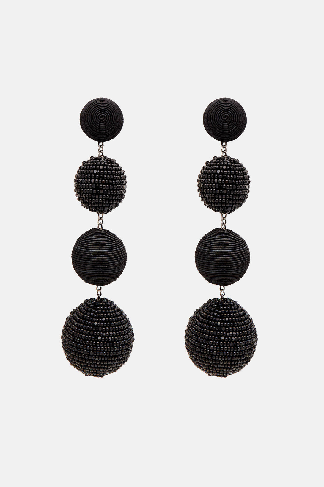Four-Ball Earrings - Black