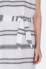 Addis Column Dress - White