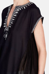 Wubit Embroidered S/S Caftan - Midnight