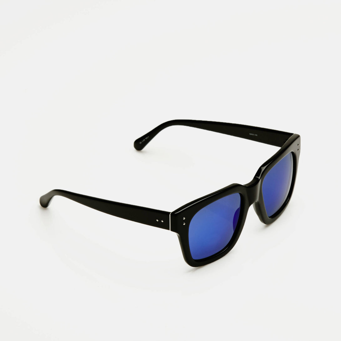 Iconic D-Frames - Black w/Blue Lens