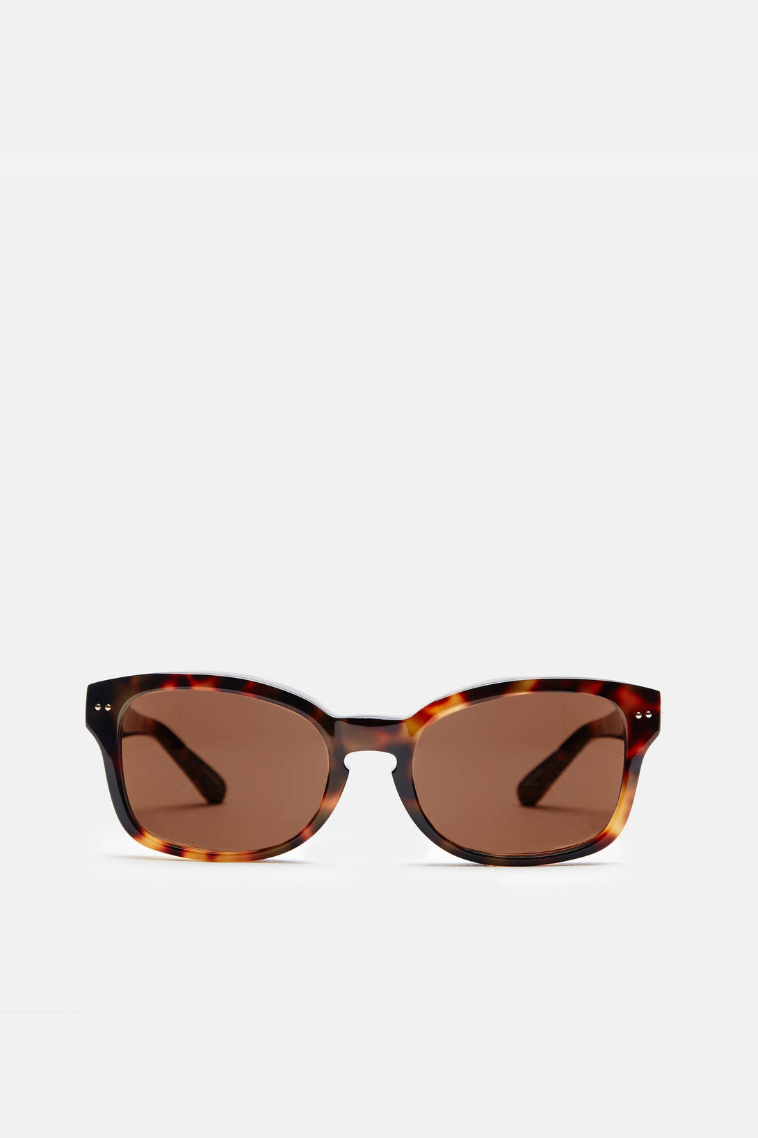 Super Chunky Acetate D-Frame - T-Shell w/Rose Gold Lens