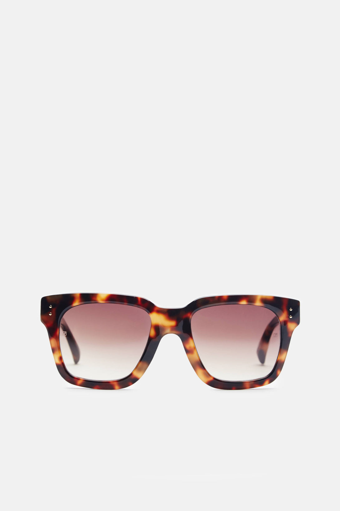 Iconic D-Frame Sunglasses - Tortoise Shell