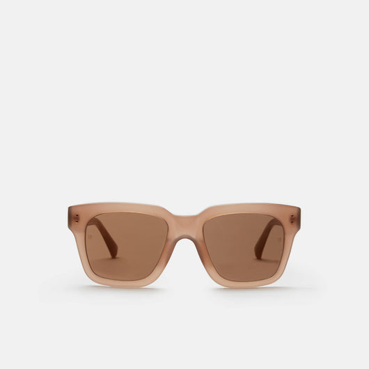 Iconic D-Frame Sunglasses - Mink Acetate w/Mirror Lens