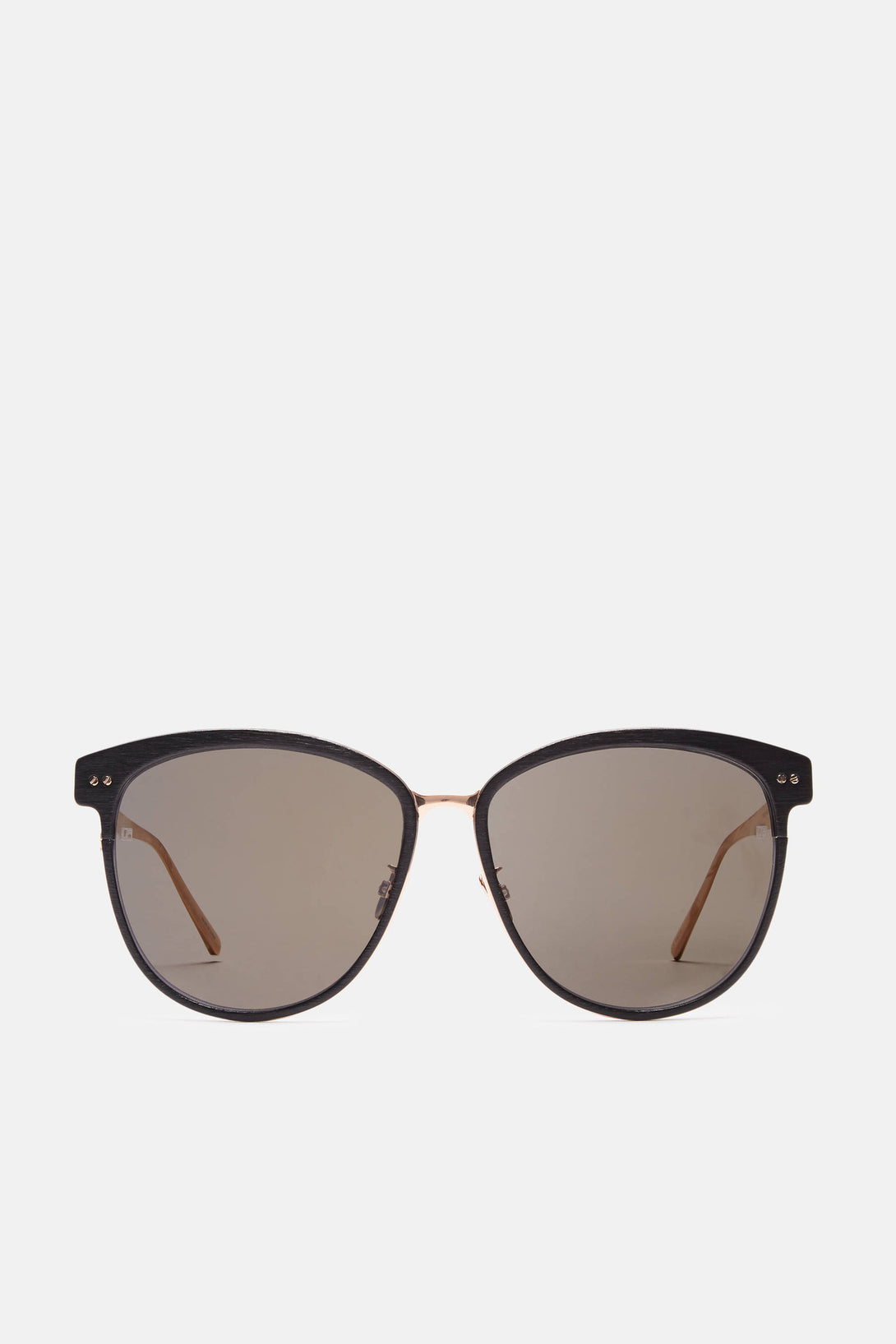 Oval Sunglasses - Black/Rose Gold