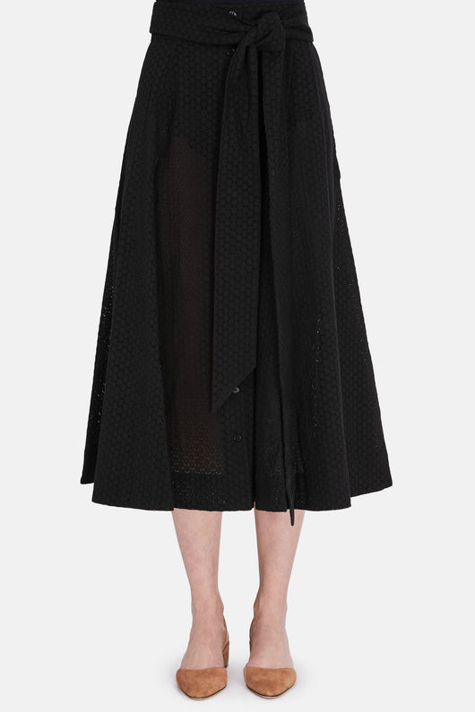 Beach Skirt - Black Eyelet