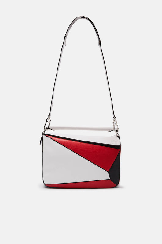 Puzzle Bag - White/Red/Black