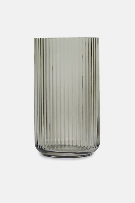 31 cm Glass Vase - Smoke
