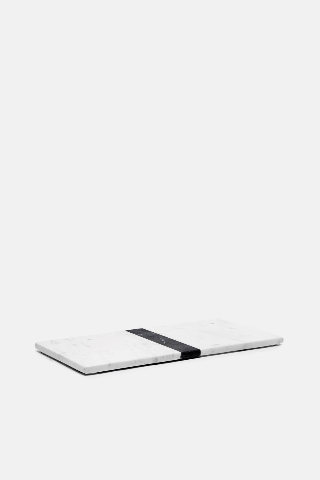 Large Marble Tray - White/Black