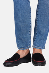 Liza Loafer - Black Calf Suede