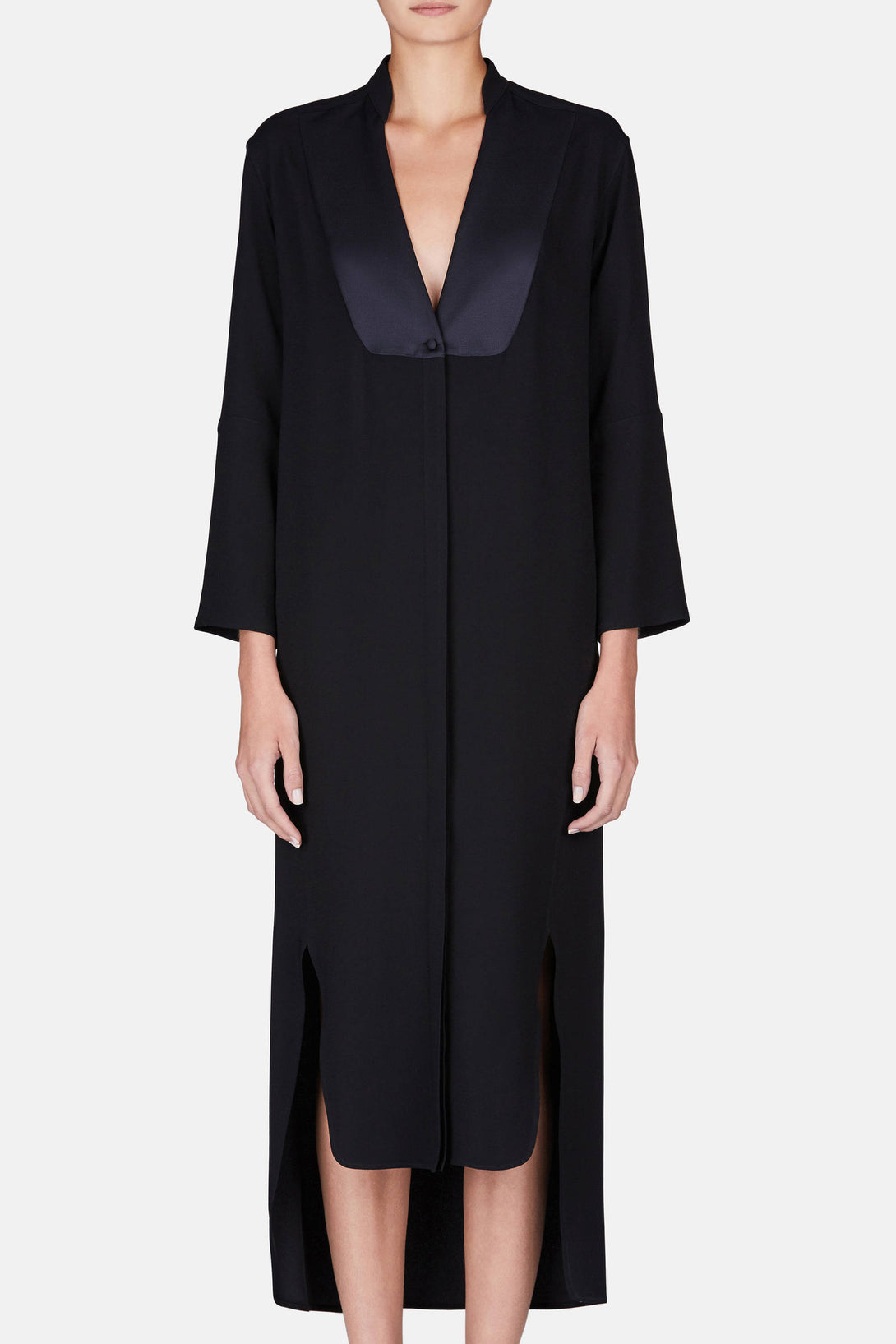 Lisa Bib Shirtdress - Black