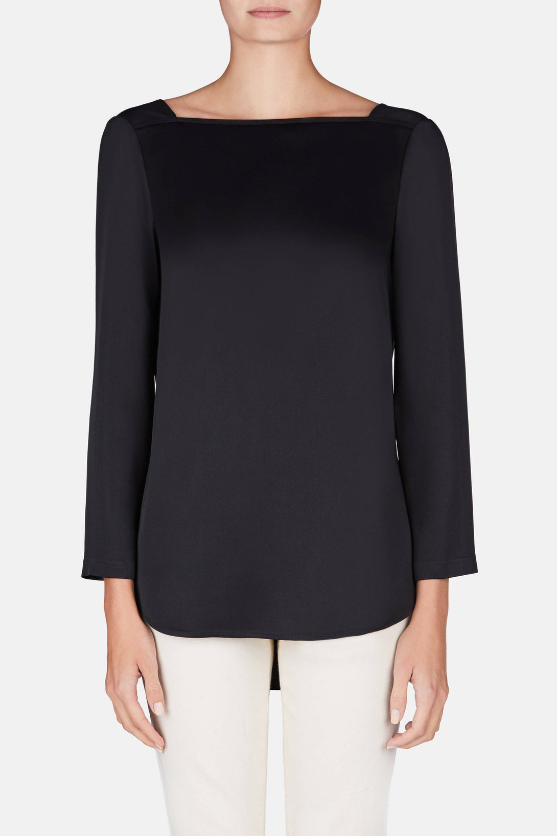 Cicily Square Neck Top - Black