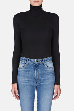 Cate Turtleneck Bodysuit - Black