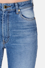 Vanessa High Rise Straight Jean - Medium Crease