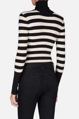 Cate Turtleneck Bodysuit - Black/Ivory