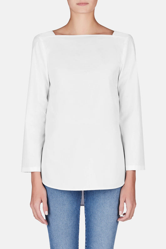 Cicily Square Neck Top - White