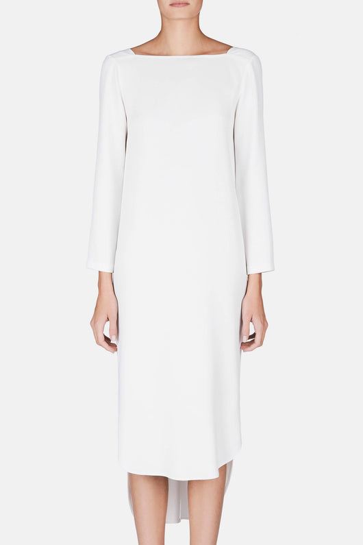 Nan Square Neck Dress - Ivory