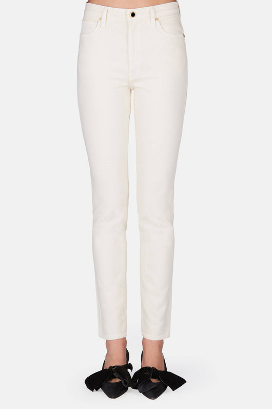 Vanessa High Rise Straight Jean - Ivory